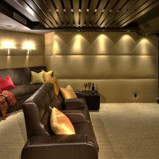 Contemporary Home Theater by Kollin Altomare Architects