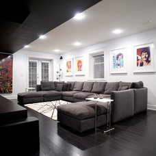 Modern Home Theater by Gaile Guevara