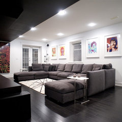 modern media room by Gaile Guevara