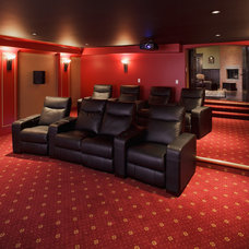 Traditional Home Theater by Stephens Fine Homes Ltd