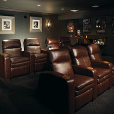 Traditional Home Theater by Murphy Brothers Contracting
