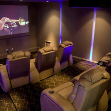 Contemporary Home Theater by Doreen Le May Madden