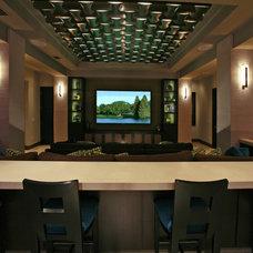 Contemporary Home Theater by Veranda Homes