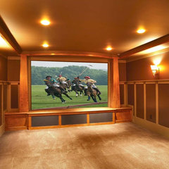 contemporary media room by Callaway Wyeth