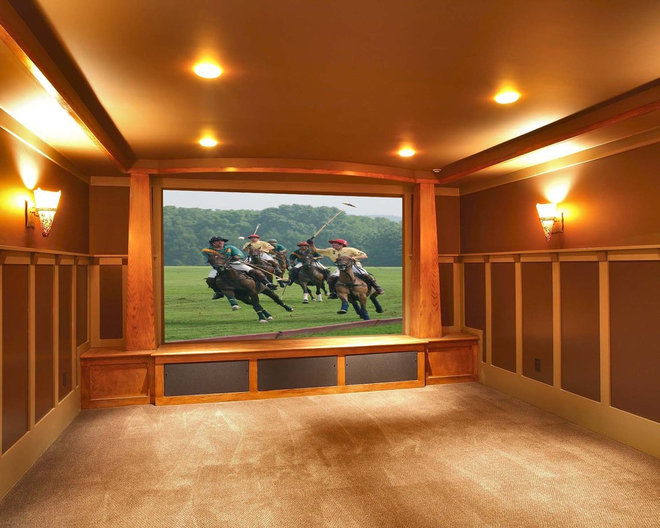 Contemporary Home Theater by Callaway Wyeth