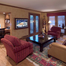 Traditional Home Theater by Blue Hot Design