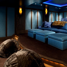 Contemporary Home Theater by Bear Mountain Builders