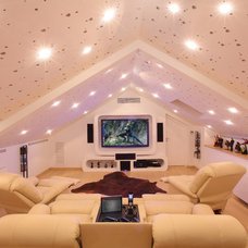 Contemporary Home Theater by Elytronic