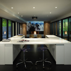 modern media room by chadbourne + doss architects