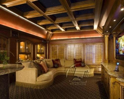 craftsman dallas home theater design ideas remodels photos houzz