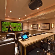 Traditional Home Theater by Belvedere Builders LLC