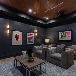 Trendy home theater photo in Los Angeles