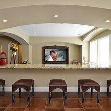 Traditional Home Theater by Gonyea Homes & Remodeling