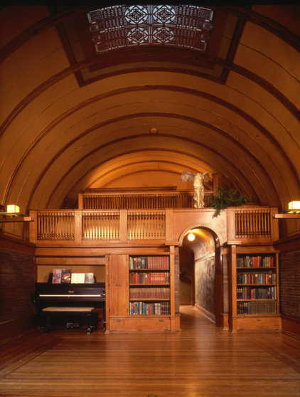 traditional media room by Frank Lloyd Wright Preservation Trust