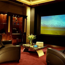 Contemporary Home Theater by Xssentials