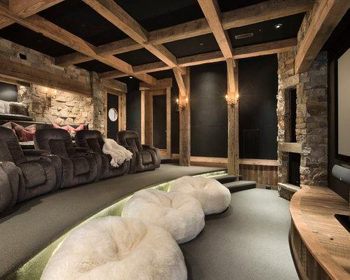 rustikales heimkino ideen design bilder houzz. Black Bedroom Furniture Sets. Home Design Ideas