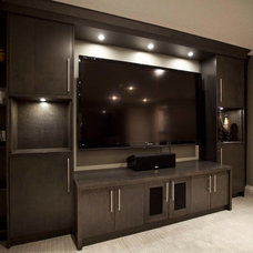 Contemporary Home Theater by Urban Abode