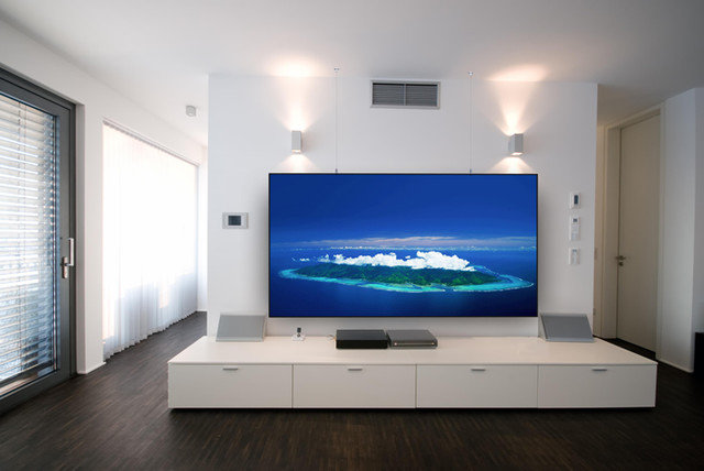 Contemporary Home Theater by ENS Tech Solutions