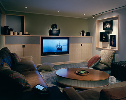 Modern Home Theater by DeForest Architects