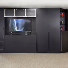 Contemporary Home Theater by Valet Custom Cabinets & Closets
