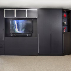 contemporary media room by Valet Custom Cabinets & Closets