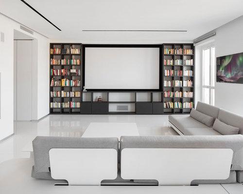 Foto e idee per home theatre home theatre - Realizzare sala cinema in casa ...