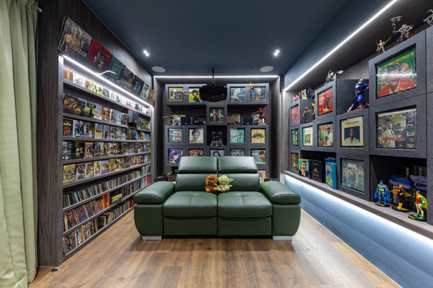 Contemporary Home Theater by Starry Homestead Pte Ltd