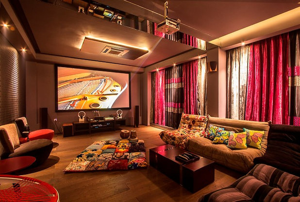 Modern Home Theater by studio ADAPL
