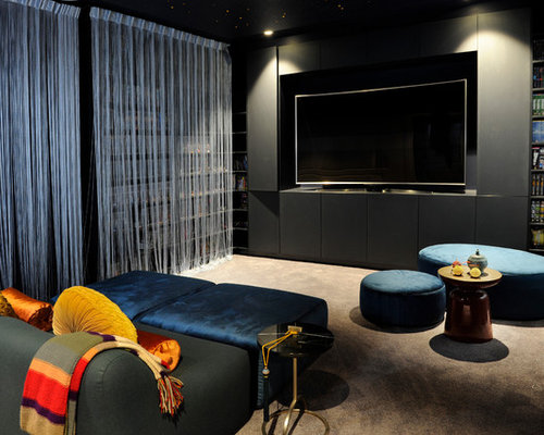 Home Theatre Design Ideas, Renovations & Photos