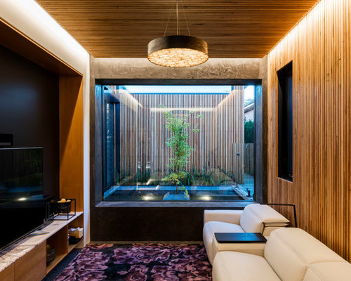 Inspiration For A Small Contemporary Enclosed Home Theater Remodel In  Wollongong