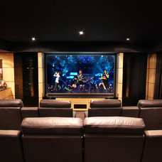 Modern Home Theater by Urban Revolutions