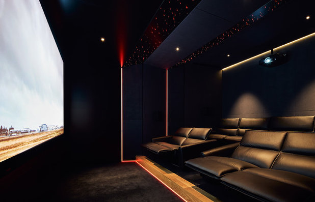 Contemporary Home Theater by STAR Architecture