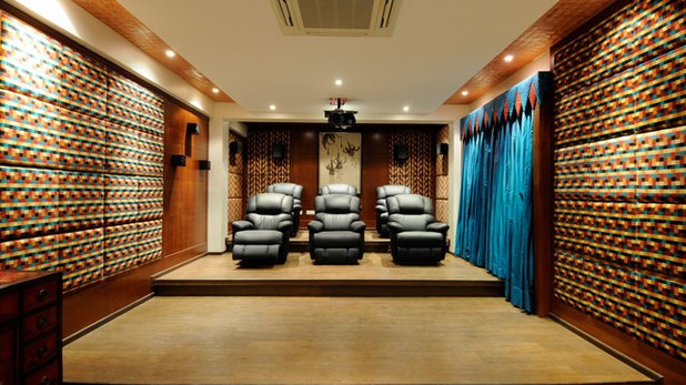 Home Theater by Metaphor Interiors Pvt Ltd