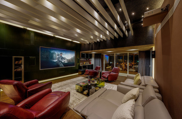 Contemporary Home Theater by TAO Architecture Pvt. Ltd.