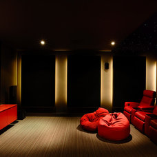 Modern Home Theater by Canny Design
