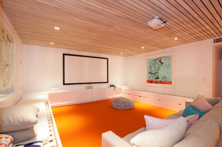 Contemporary Home Theater by Open Plan Living