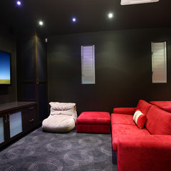 contemporary media room by SBT Designs
