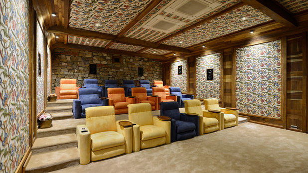 American Traditional Home Theater by Trescent Lifestyles