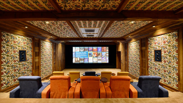 Contemporary Home Theater by Trescent Lifestyles