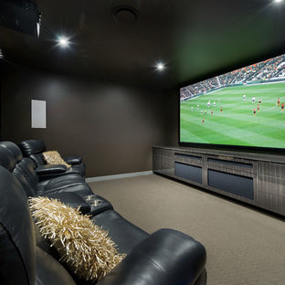 Immagine di un home theatre minimal