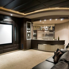 Transitional Home Theater by Zorzi