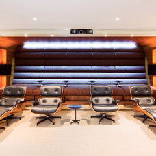 Contemporary Home Theater by Salt Interiors