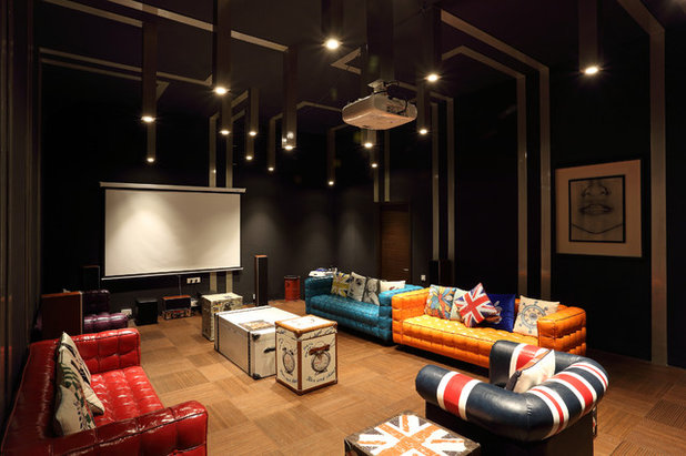 Eclectic Home Theater by ACDS