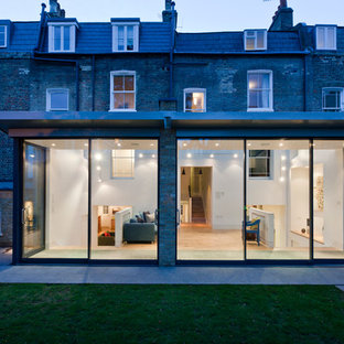 Design ideas for a contemporary glass exterior in London.