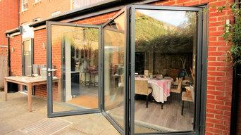 Bi-fold door in new Extension