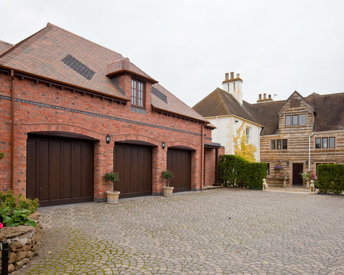 Red Brick Garage Home Design Ideas, Renovations & Photos