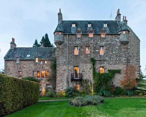 Castle style homes houzz for Castle style homes