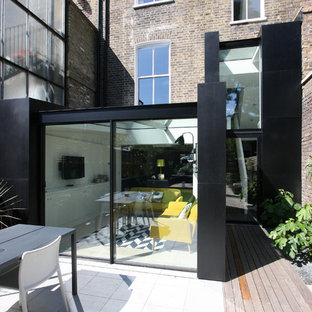 Trendy metal exterior home photo in London