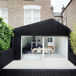 Example of a trendy exterior home design in London