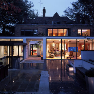 Large contemporary detached house in London with three floors.